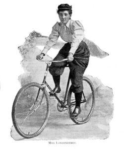 Photo d'Annie Londonderry, première femme a avoir fait le tour du monde en vélo