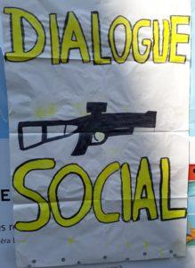 Dialogue sociale basé avec des LBDs, Affiche
