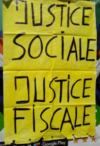 Justice sociale et justice fiscale, Affiche