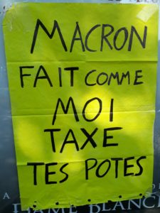"""Macron, fais comme moi, taxe tes potes"", Affiche"